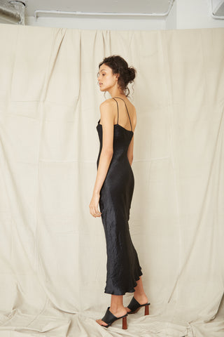 WATERS EDGE ONE SHOULDER MAXI | BLACK