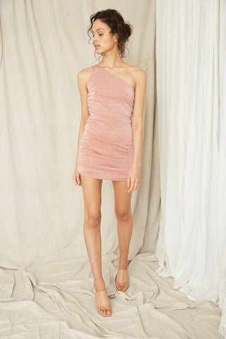 STAR DUST ONE SHOULDER MINI | BLUSH