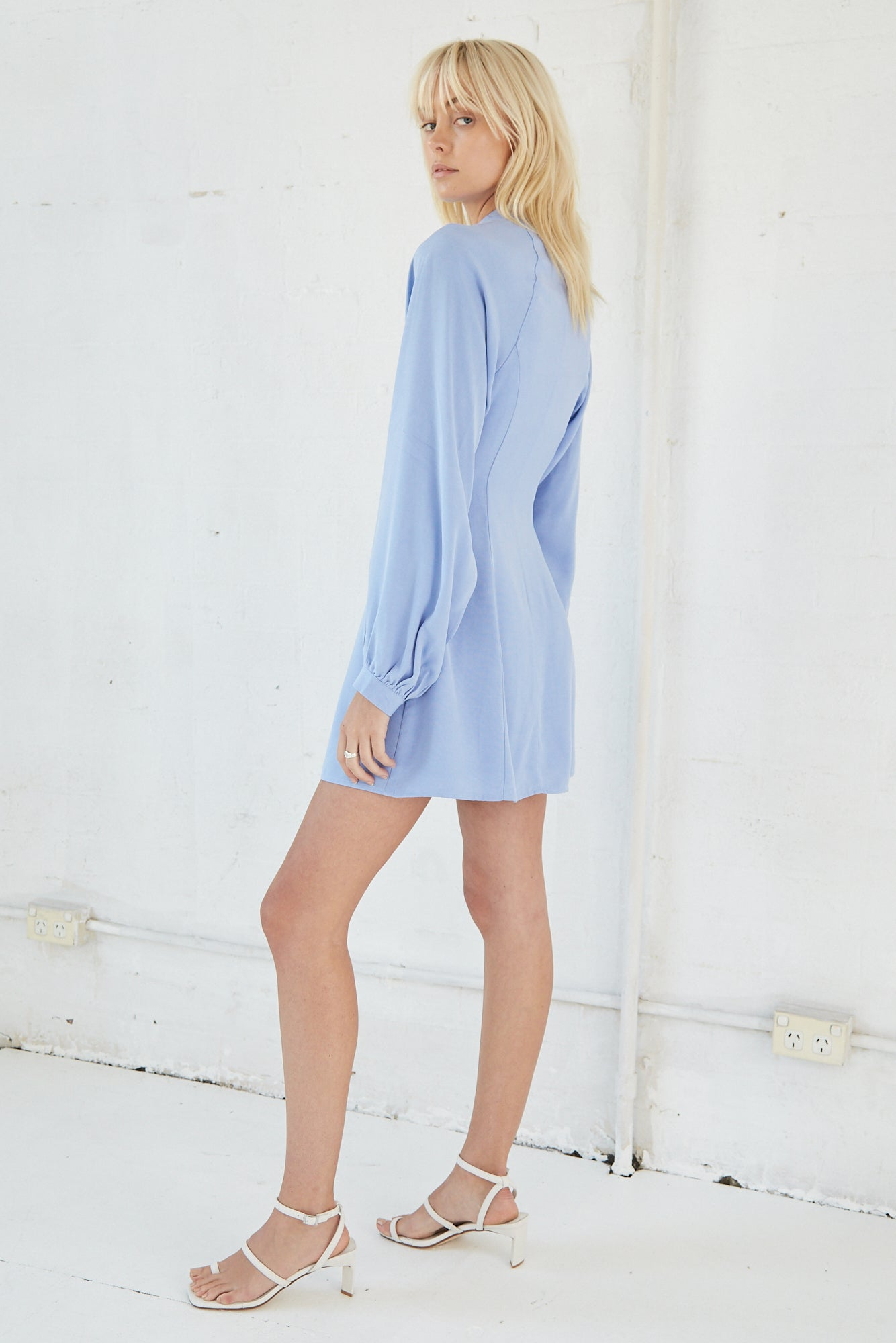 LINGER ON SHIRT DRESS | PERIWINKLE