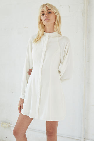 LINGER ON SHIRT DRESS | OFF WHITE