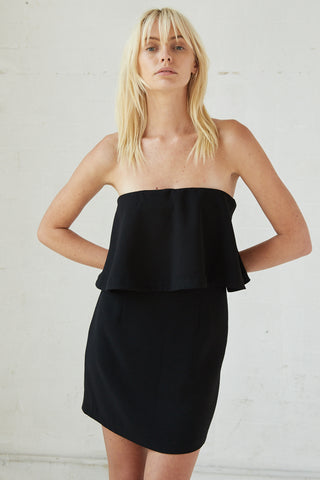 DOUBLE UP STRAPLESS MINI | BLACK