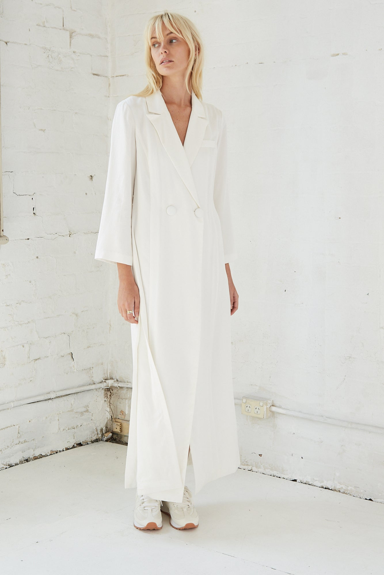 MOVE ON MAXI BLAZER |OFF WHITE