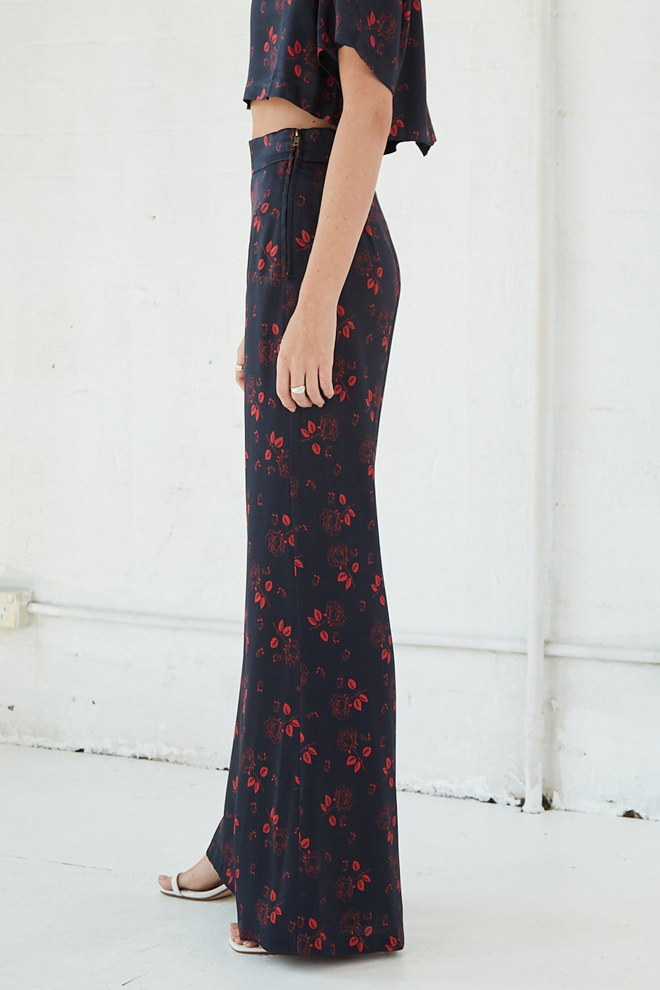BLOOM TROUSER | ROSE FLOWER