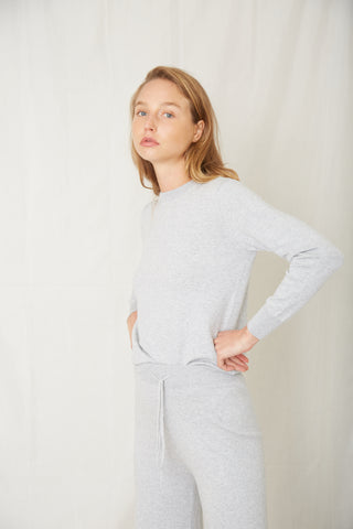 IN THE CREW LS TOP | GREY MARLE