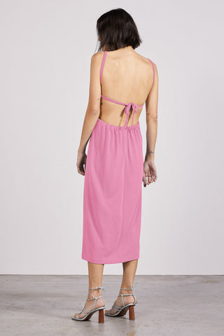 PULL IN MIDI DRESS | PINK | pre-order