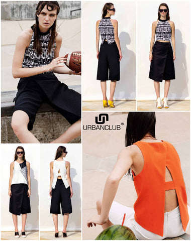 N12H Crop Top and Culottes - URBAN CLUB Designer Fashion Boutique