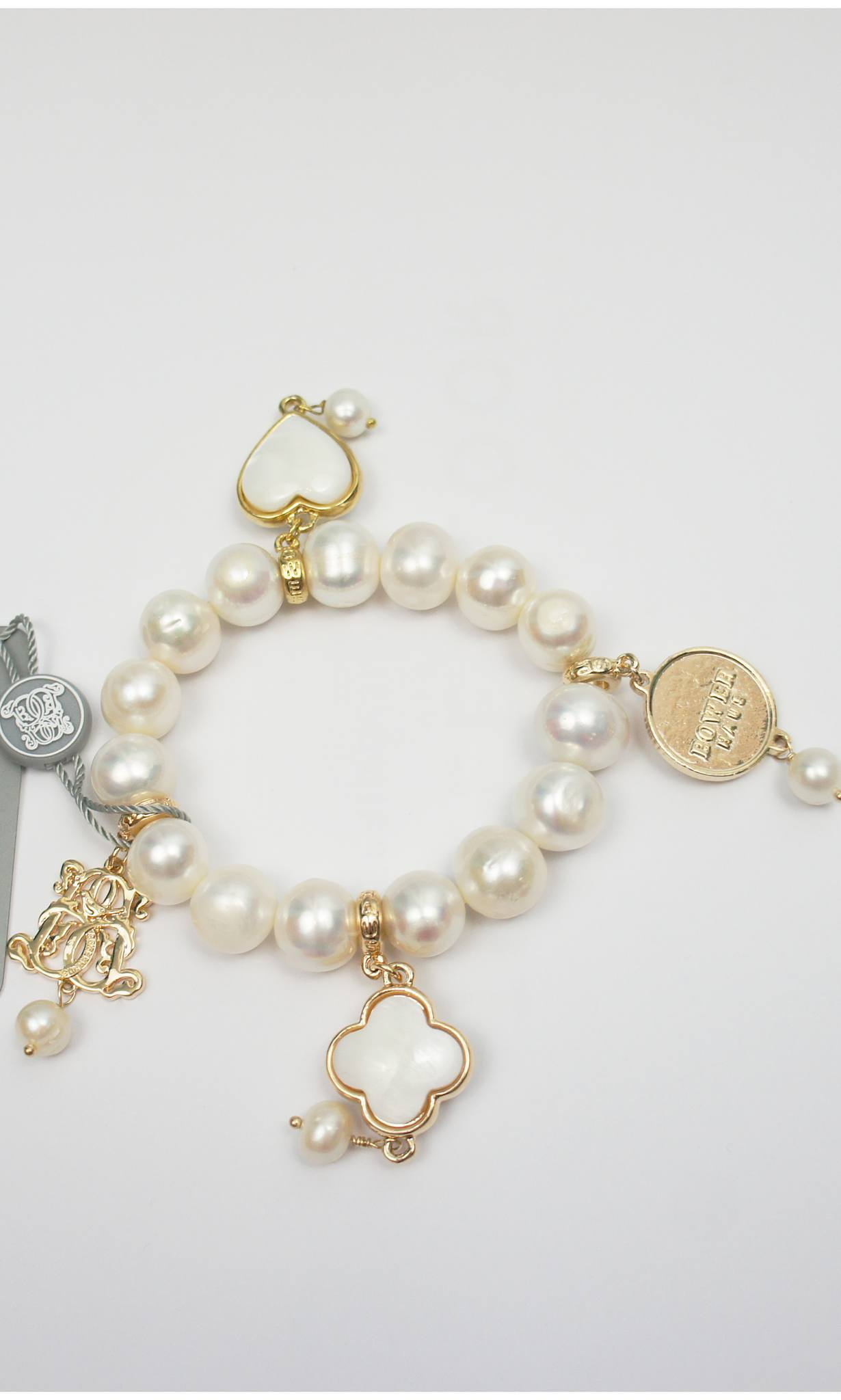 pearl with freshwater winterson bracelet classic gold the white clasp