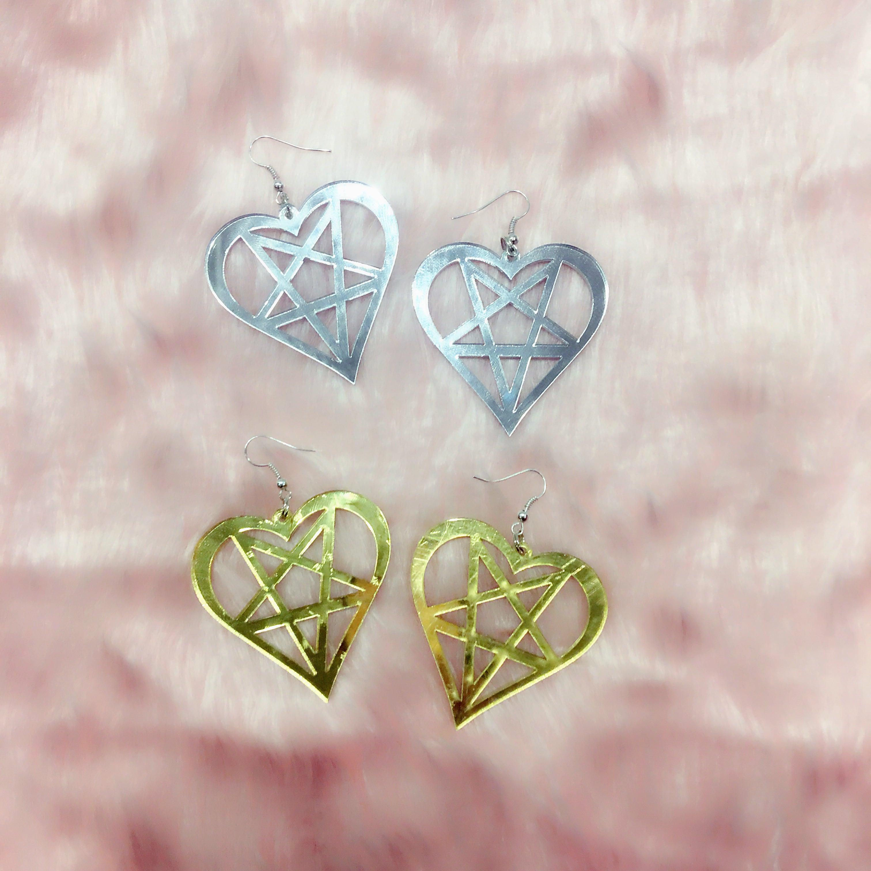 MAGICAL BABE EARRINGS (Mirror Silver or Gold)