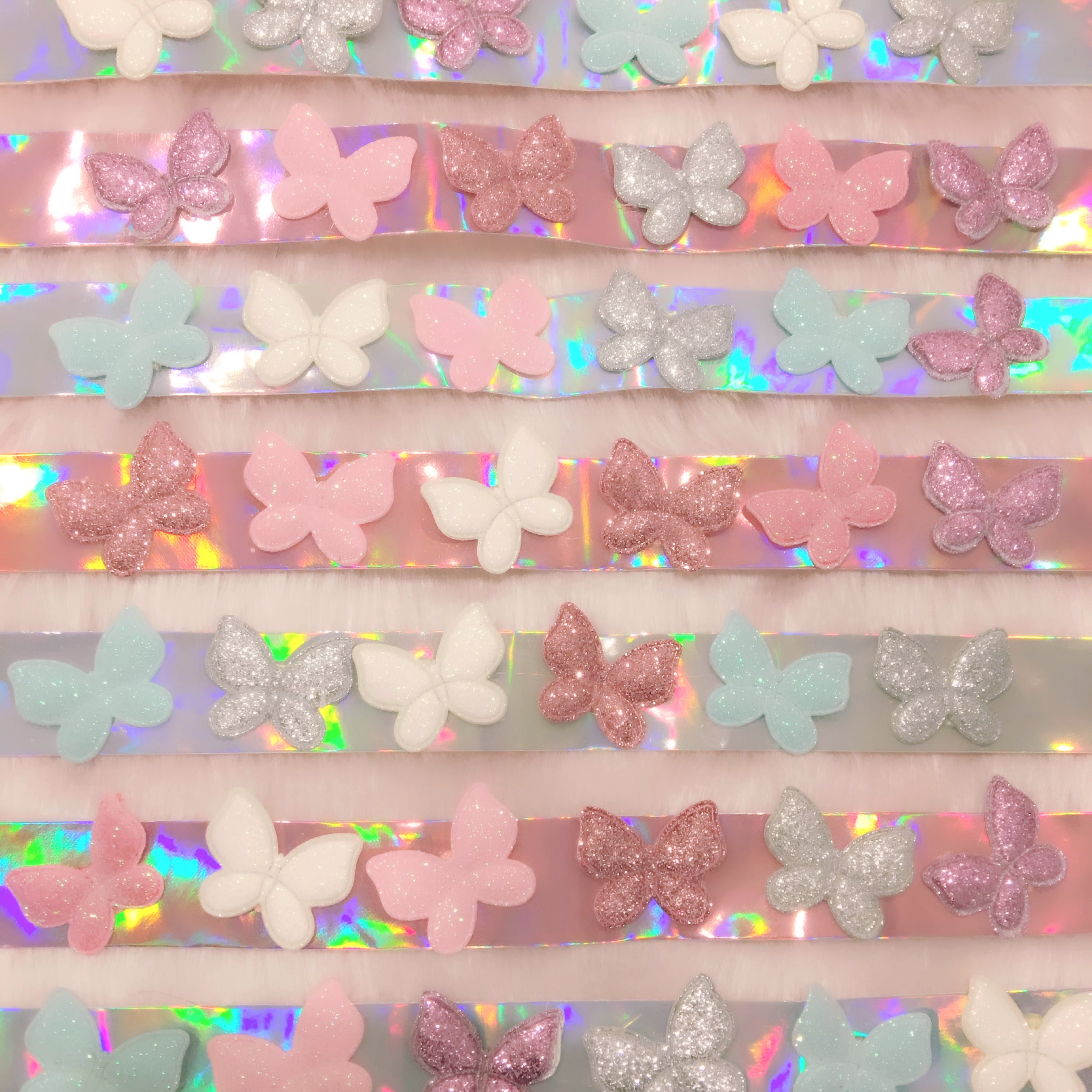 holographic choker with butterflies at BABY VOODOO - shop iridescent jewellery fashion