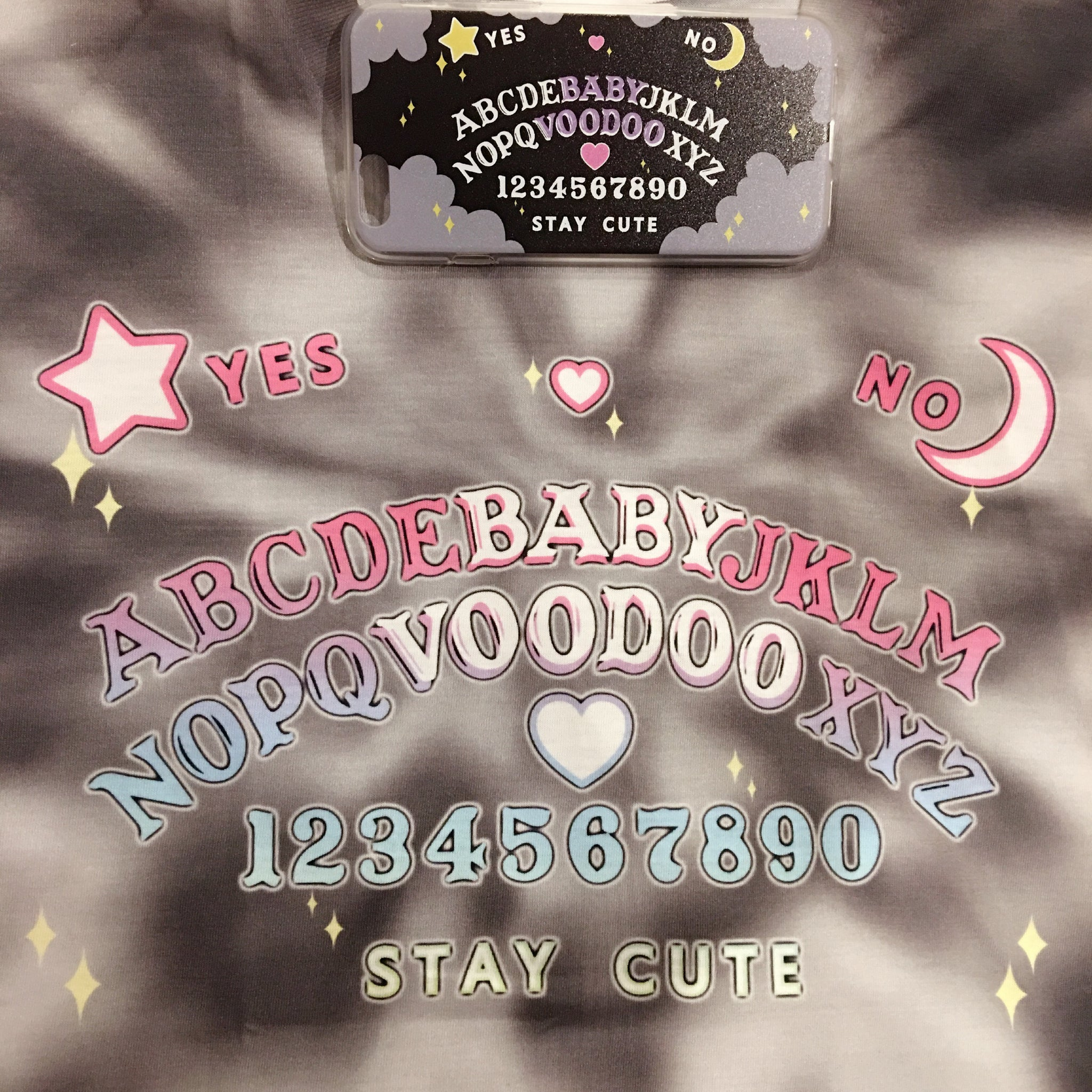 rainbow pastel ouija board fashion crop top shirt pink tie dye phone case halloween spiritual cute sexy style womens shop at BABY VOODOO - babyvoodoo.com