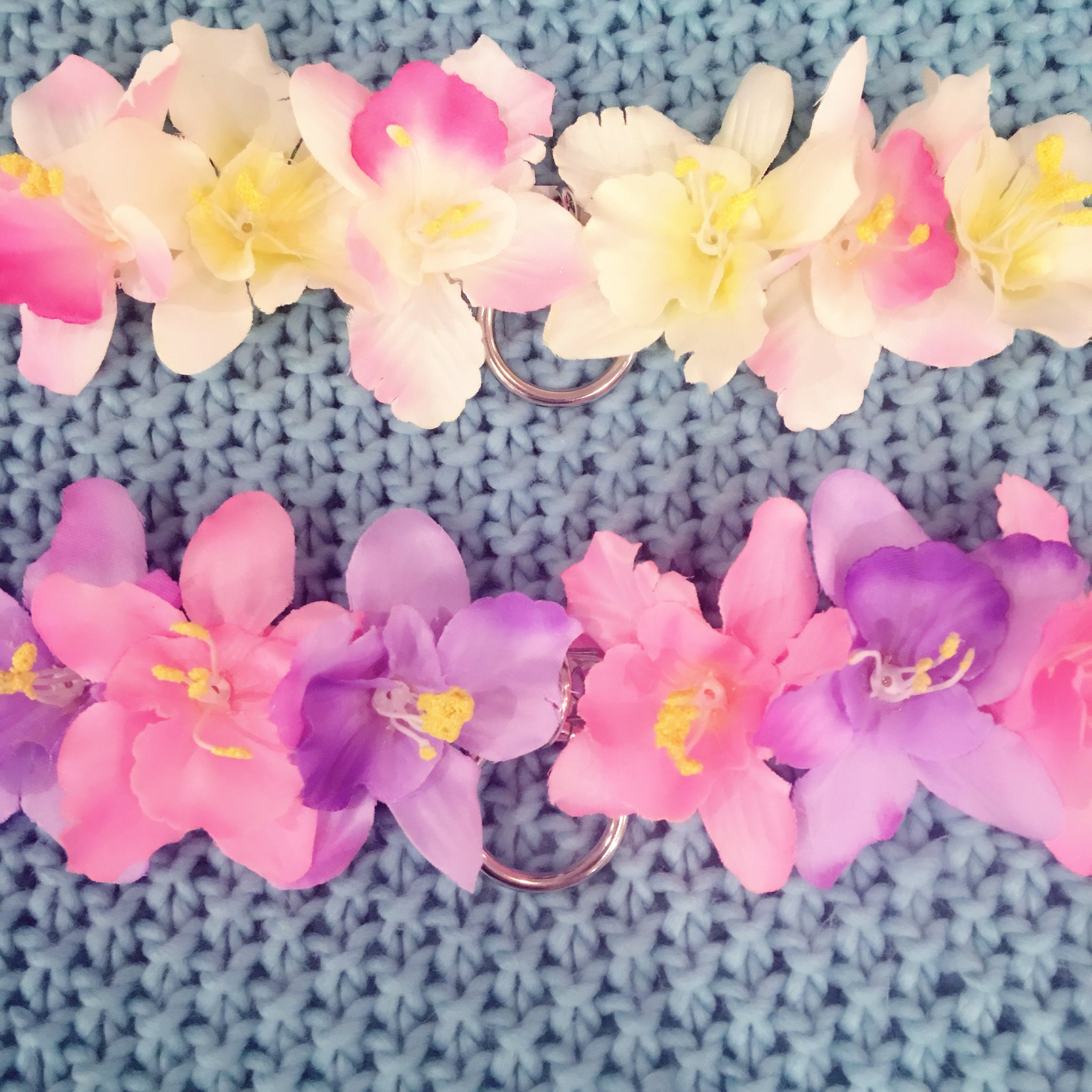 pastel choker collar necklace pink purple white flower floral accessories fashion at BABY VOODOO - BABYVOODOO.COM cute pastel aesthetic fashion baby girl aesthetic jewellery jewelry