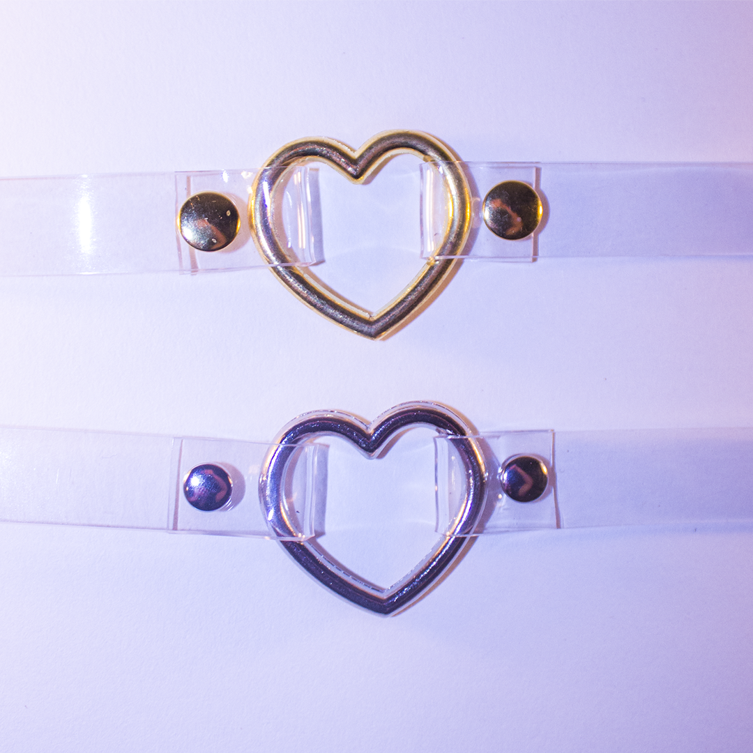 Baby Voodoo heart ring choker collar transparent clear amore silver buy now from babyvoodoo.com