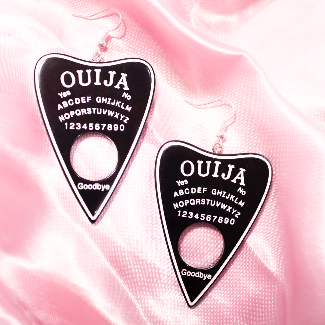 OUIJA EARRINGS (Black)