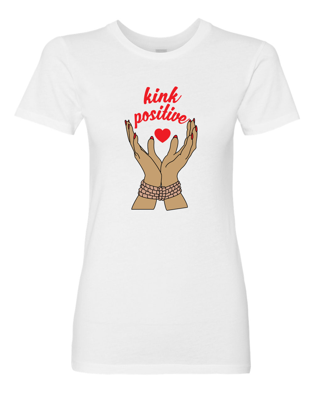Kink Positive - Kawaii Kink - Tee - Top - bondage fashion design - bdsm pride at BABY VOODOO - Shop now at BABYVOODOO.COM fetish community