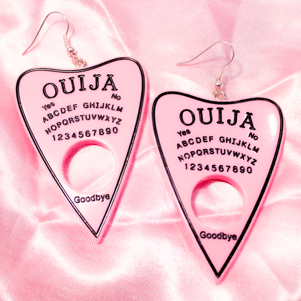 OUIJA EARRINGS (Pink)