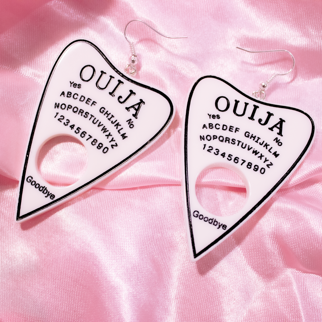 OUIJA EARRINGS (White)