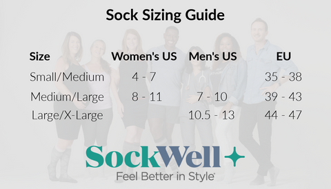 Compression sock size guide