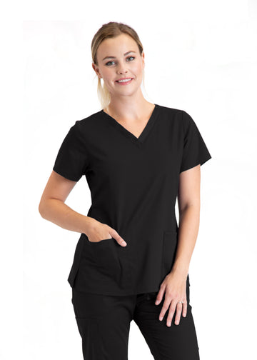 Ladies 3 Pocket Scrub Top | Express Dispatch