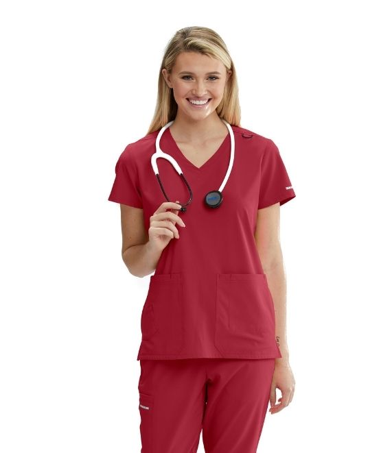 Ladies Focus Scrub Top 2XL-5XL