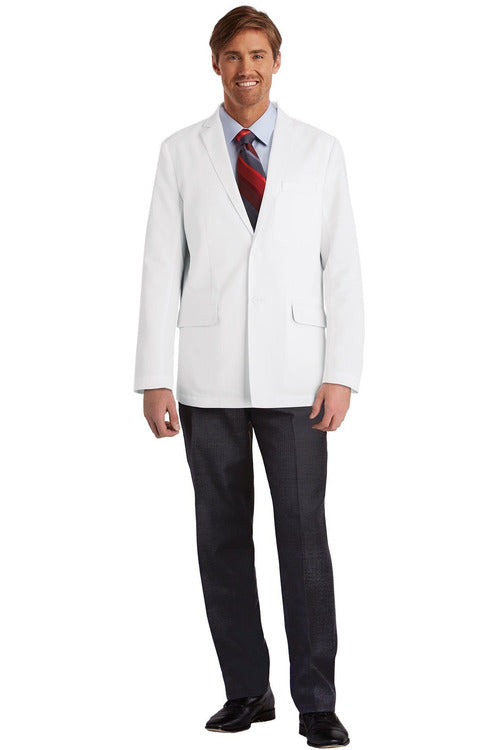 "Mens Lab Coat 30"" 0916 Lab Coats Barco 34 White 80% Polyester/20% Cotton"