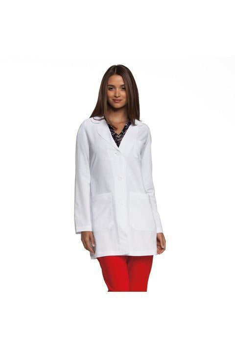 "Women's 34"" 3 Pocket - Lab Coat 4481 Lab Coats Barco 70% Polyester / 25% Rayon / 5% Spandex XS White"