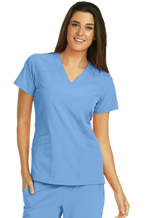 Barco One Scrub Top 4 Way Stretch Barco One - Ladies Vet Scrub Top 5106