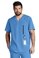 Barco One Scrub Top 4 Way Stretch Barco One - Men's Vet Scrub Top 0115