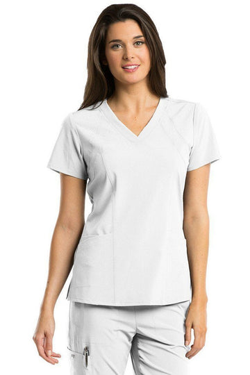Ladies Racer Scrub Top 2XL-5XL