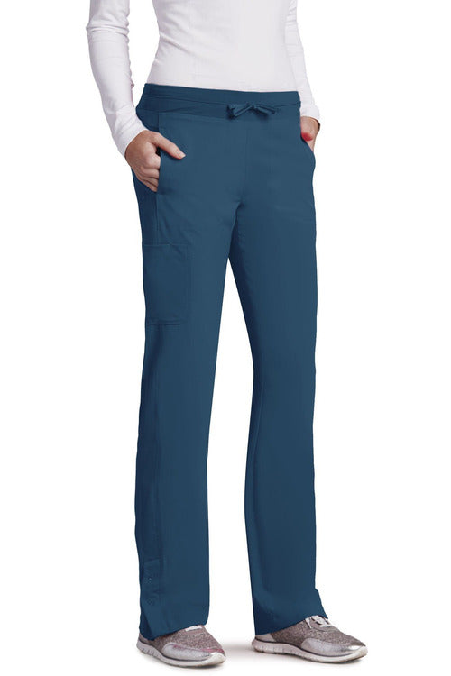 Barco One - Women's Vet Scrub Pant 2XL-5XL 5205 Scrub Pant 4 Way Stretch Barco One 2XL Bahama 50% Poly/43% Recycled Poly/7% Spandex