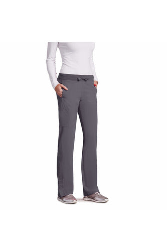 Barco One - Women's Vet Scrub Pant 2XL-5XL 5205 Scrub Pant 4 Way Stretch Barco One 2XL Granite 50% Poly/43% Recycled Poly/7% Spandex