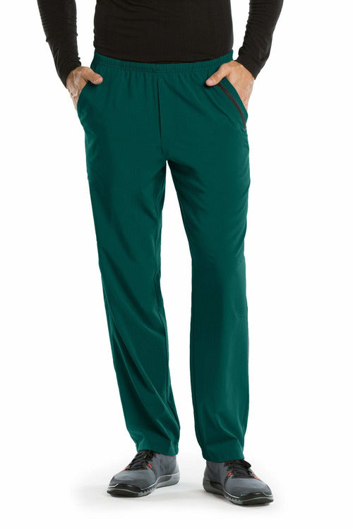 Barco One Scrub Pant 4 Way Stretch 2XL / Hunter / 50% Polyester / 43% Recycled Polyester / 7% Spandex Barco One | Men's Vet Scrub Pant 0217 2XL-5XL