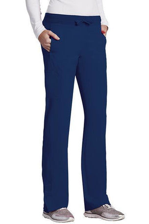 Barco One - Women's Vet Scrub Pant 2XL-5XL 5205 Scrub Pant 4 Way Stretch Barco One 2XL Indigo 50% Poly/43% Recycled Poly/7% Spandex
