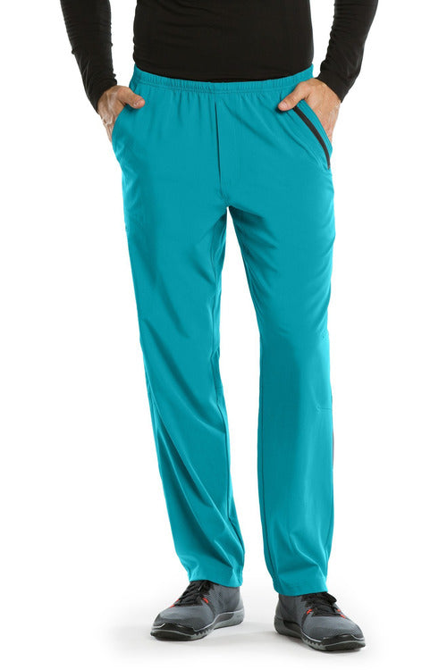 Barco One Scrub Pant 4 Way Stretch 2XL / Teal / 50% Polyester / 43% Recycled Polyester / 7% Spandex Barco One | Men's Vet Scrub Pant 0217 2XL-5XL