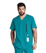 Barco One Scrub Top XS / 39 Teal Men's Amplify Scrub Top
