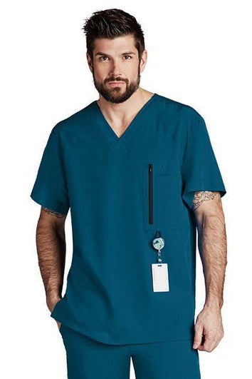 Barco One Scrub Top 4 Way Stretch XS / Bahama Barco One - Men's Vet Scrub Top 0115