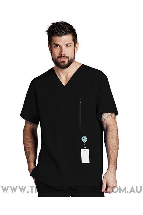 Barco One - Men's Vet Scrub Top 0115 Scrub Top 4 Way Stretch Barco One XS Black