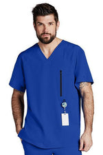Barco One Scrub Top 4 Way Stretch XS / Cobalt Barco One - Men's Vet Scrub Top 0115