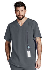 Barco One Scrub Top 4 Way Stretch XS / Granite Barco One - Men's Vet Scrub Top 0115