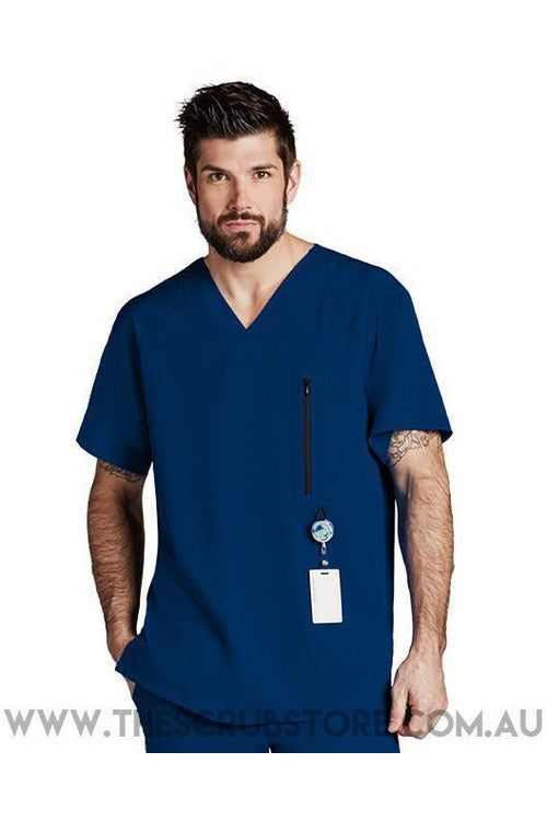 Barco One - Men's Vet Scrub Top 0115 Scrub Top 4 Way Stretch Barco One XS Indigo