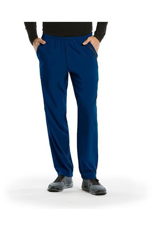 Barco One Scrub Pant 4 Way Stretch XS / Indigo / 50% Polyester / 43% Recycled Polyester/ 7% Spandex Barco One | Men's Vet Scrub Pant 0217 Stout