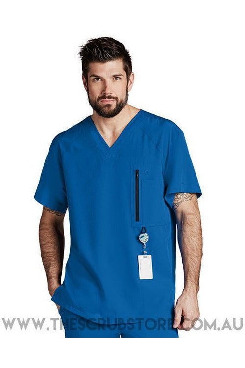 Barco One - Men's Vet Scrub Top 0115 Scrub Top 4 Way Stretch Barco One XS New Royal