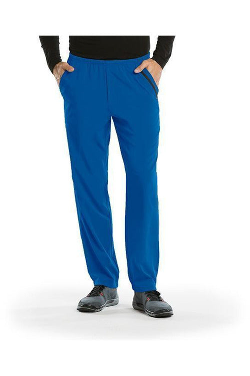 Barco One Scrub Pant 4 Way Stretch XS / New Royal / 50% Polyester / 43% Recycled Polyester/ 7% Spandex Barco One | Men's Vet Scrub Pant 0217 Stout
