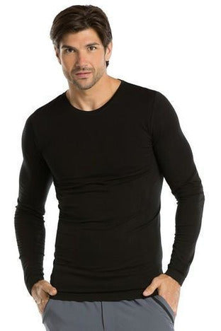 Barco One - Men's Nurse Long Sleeve Top 0305 Under Shirt Barco One XS/S Black 60% Poly / 23% Nylon / 7% Spandex