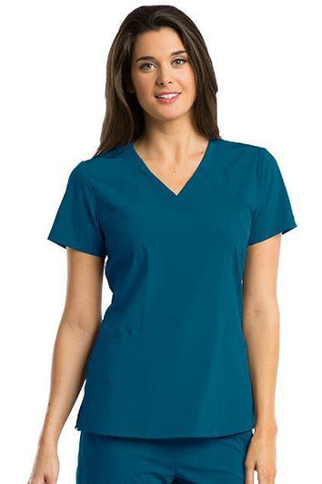 Barco One Scrub Top 4 Way Stretch XXS / Bahama / 50% Polyester 43% Recycled Polyester 7% Spandex Barco One - Ladies Vet Scrub Top 5105