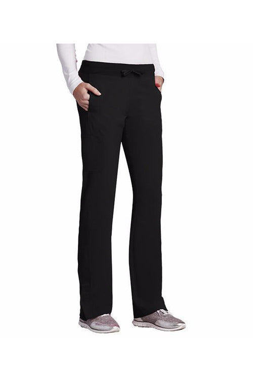 Barco One - Women's Vet Scrub Pant 5205 Scrub Pant 4 Way Stretch Barco One XXS Black 50% Poly/43% Recycled Poly/7% Spandex