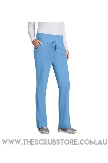 Barco One-Women's Vet Pant 5206 Scrub Pant 4 Way Stretch Barco One XXS Ciel 50% Poly/43% Recycled Poly/7% Spandex