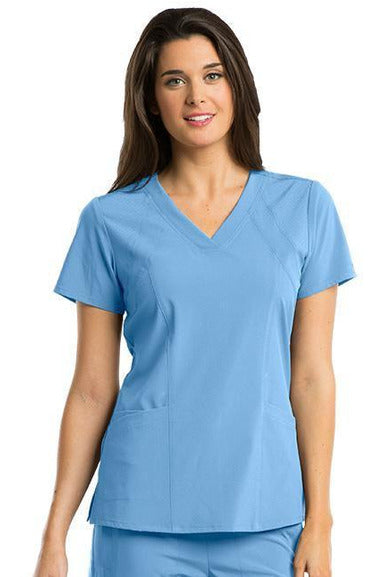 Barco One Scrub Top 4 Way Stretch XXS / Ciel / 50% Polyester 43% Recycled Polyester 7% Spandex Barco One - Ladies Vet Scrub Top 5105