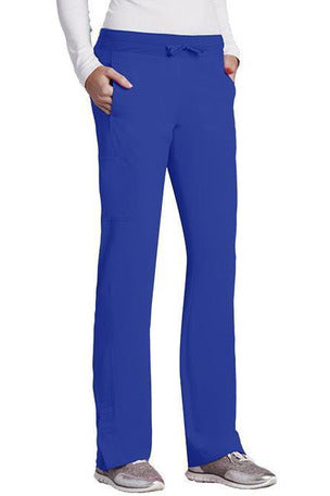 Barco One Scrub Pant 4 Way Stretch XXS / Cobalt / 50% Poly/43% Recycled Poly/7% Spandex Barco One Ladies Vet Scrub Pant 5205