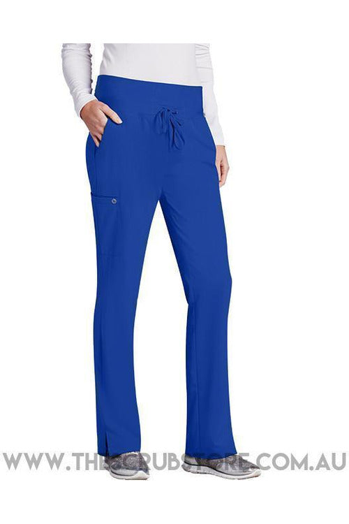 Barco One-Women's Vet Pant 5206 Scrub Pant 4 Way Stretch Barco One XXS Cobalt 50% Poly/43% Recycled Poly/7% Spandex