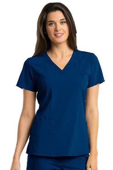 Barco One Scrub Top 4 Way Stretch XXS / Indigo / 50% Polyester 43% Recycled Polyester 7% Spandex Barco One - Ladies Vet Scrub Top 5105